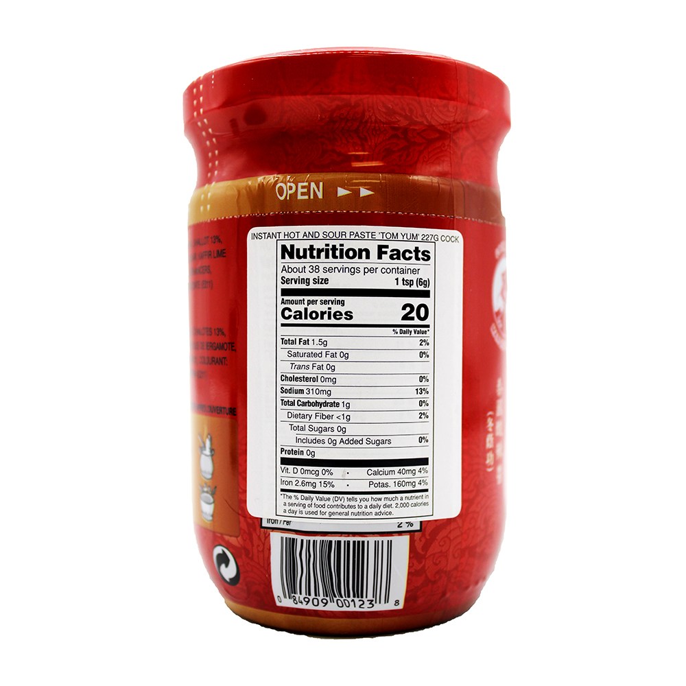 large cock brand tom yum instant hot and sour paste 8 oz 6 2KQAUg