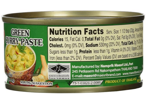 large maesri green curry paste 4 oz q5JYM5r6RE
