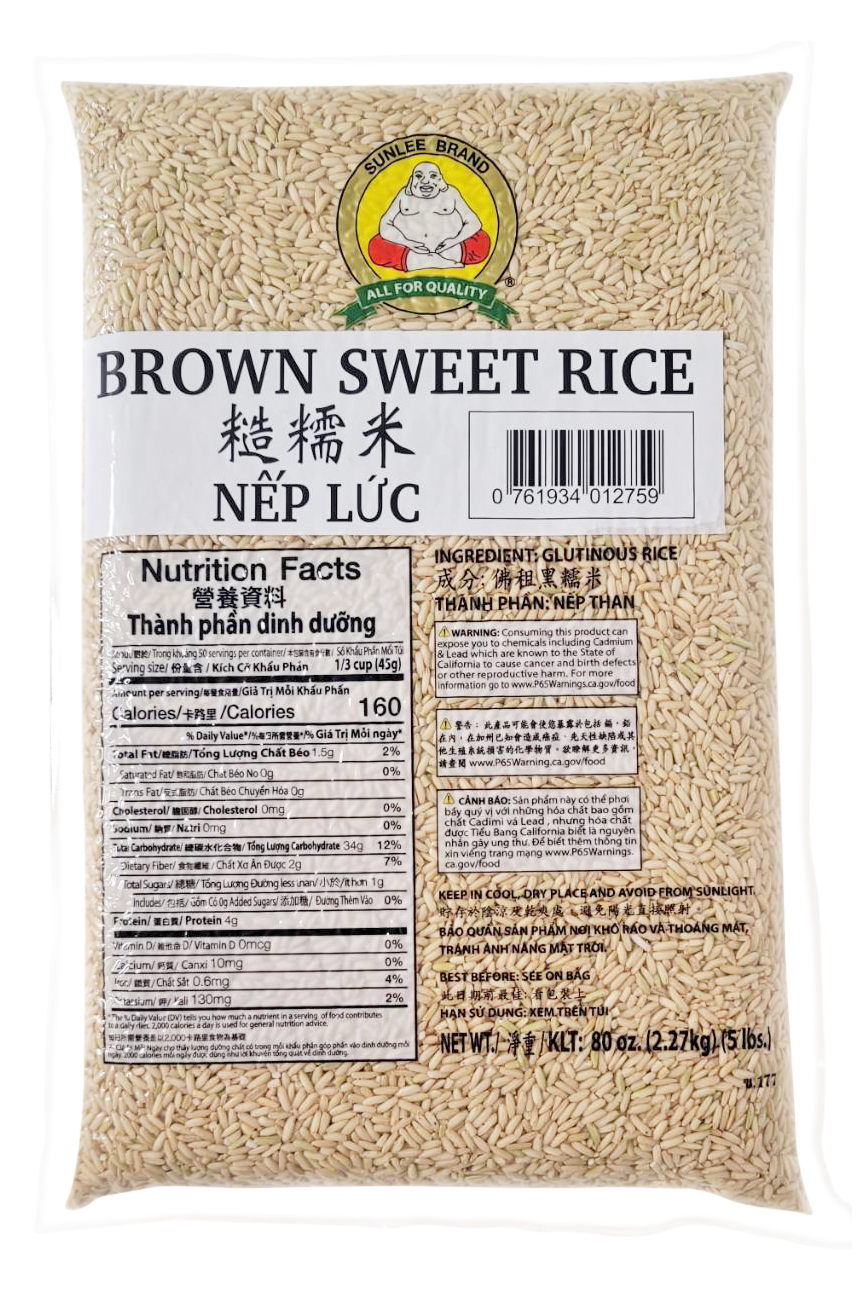 large sunlee brown sweet rice nep luc 5
