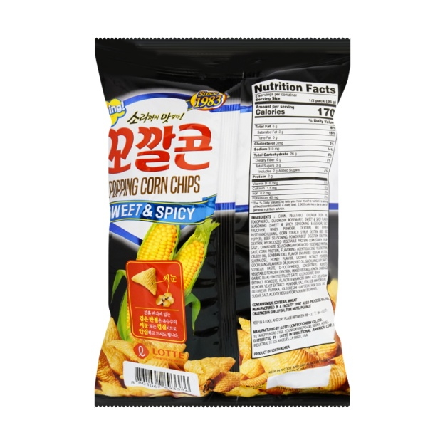 small lotte popping corn chip sweet spicy 508 oz gsDpn5l1w7 1