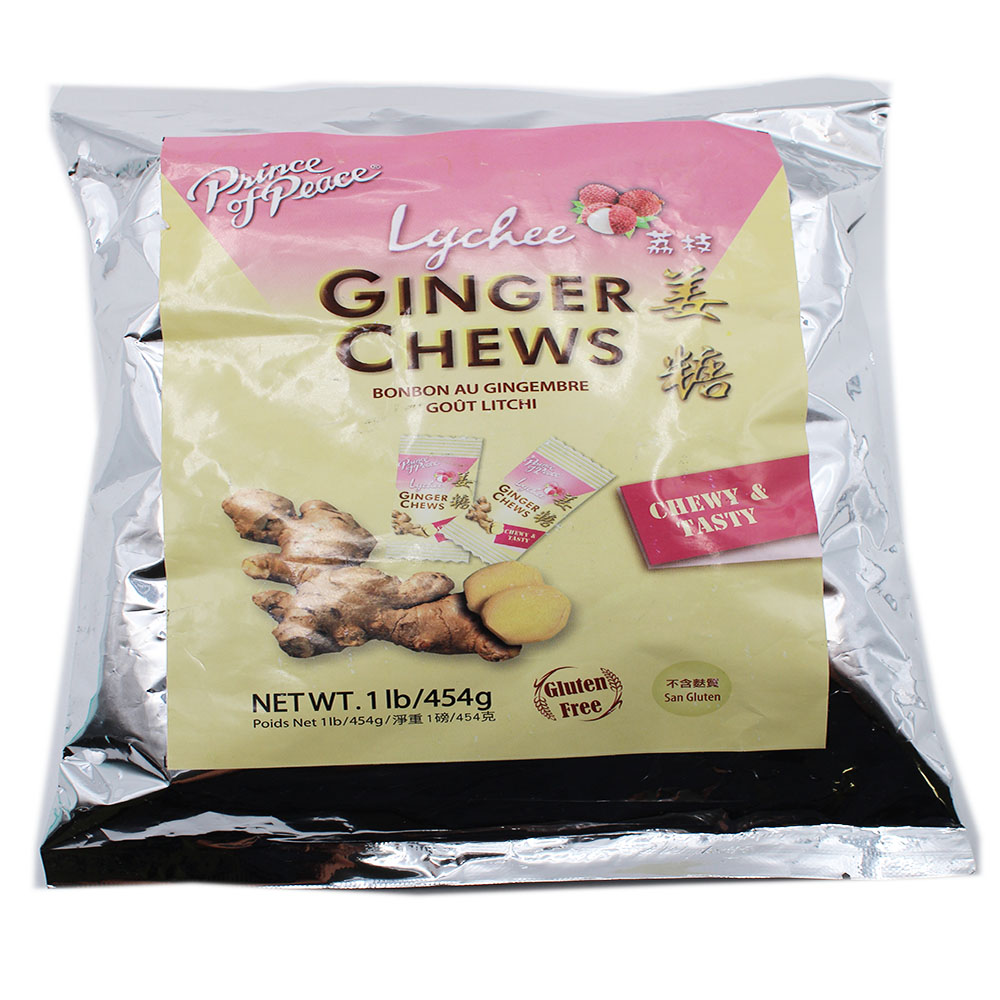 small prince of peace ginger chews lychee flavor 1 lb ax yLK7XA 1