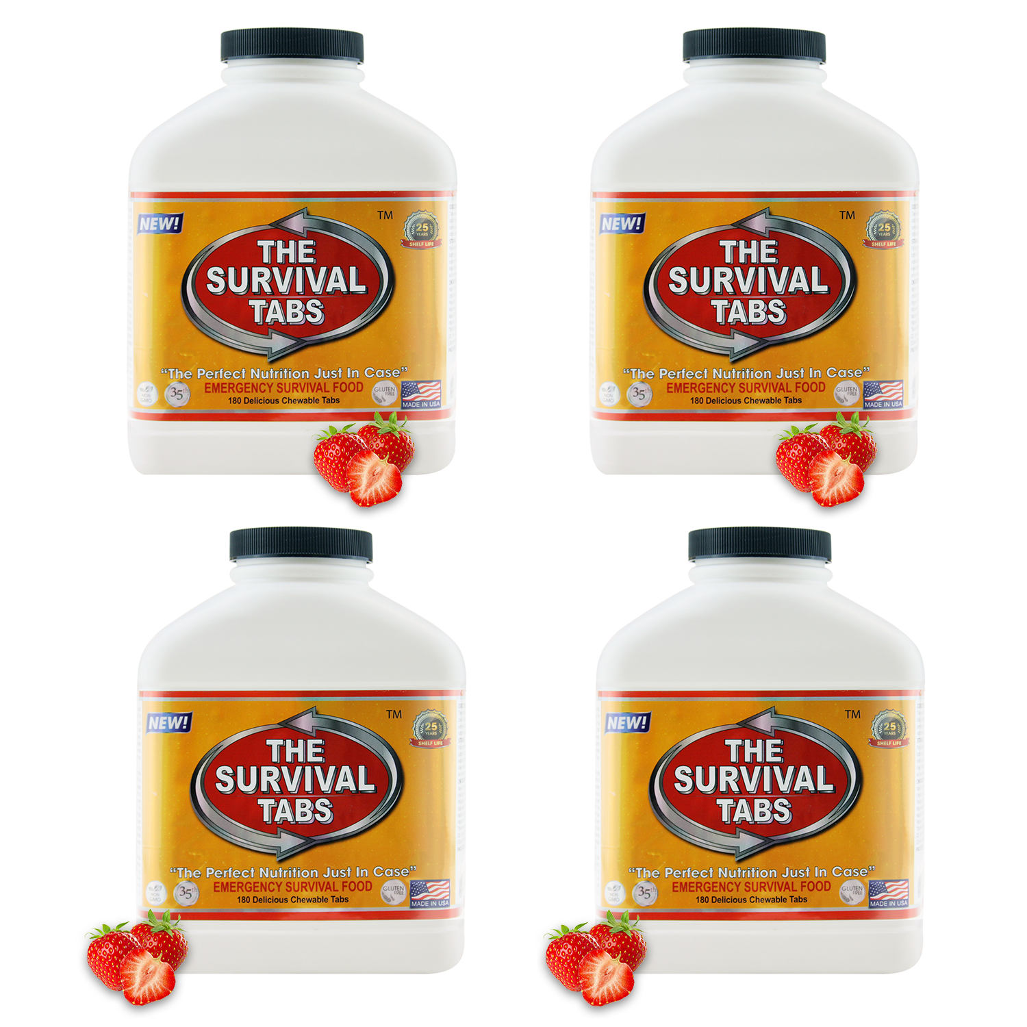 THE SURVIVAL TABS STRAWBERRY 4 BOTTERS X 1
